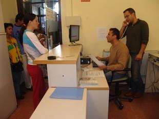 Imatge d'arxiu d'una oficina d'atenció ciutadana