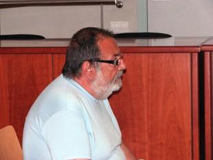 L'acusat, Antonio Recasens, durant la celebració del judici avui a l'Audiència de Lleida.