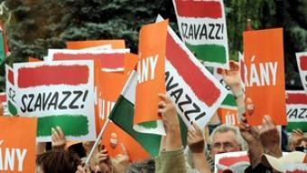 Seguidors del principal partit de l'oposició a Hongria, el conservador Fidesz. EFE