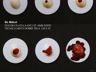 Un detall dels ous de guatlla del Bulli.  EL PUNT