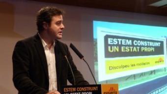 Bertran, en un acte d'ERC a Sant Adrià de Besòs.  J. NAVARRO