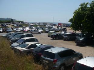 L'aparcament de la platja Llarga ahir. J.M