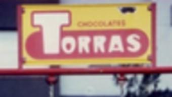 El trapezi històric de xocolates Torras.