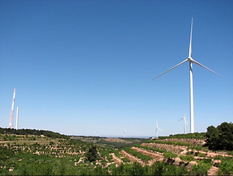 Parc eòlic de Vilalba dels Arcs (Terra Alta) en una imatge d'arxiu. Els recursos públics de l'Ajuntament s'han doblat gràcies al parc ELPUNTAVUI