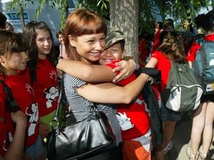 Un grup de 30 nens van marxar de colònies divendres al matí. GABRIEL MASSANA