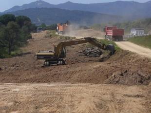 El desdoblament entre Platja d'Aro i Palamós continua en marxa.  ÒSCAR PINILLA