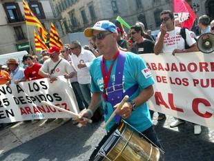 Treballadors de totes les plantes d'Ercros es van manifestar a Barcelona.  QUIM PUIG
