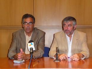Baijet i Blanco, ahir a l'Edifici Miramar de Sitges.  M.L