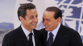 Sarkozy amb Berlusconi, reunits a Itàlia. EFE