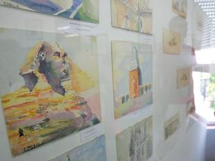 Una de les nombroses aquarel·les que es mostren a l'exposició. MARTA MARTÍNEZ