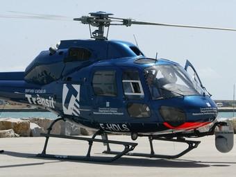 Imatge del nou helicòpter del Servei Català de Trànsit.  A.PUIG