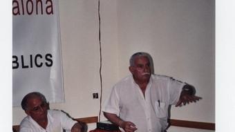 Juan Gómez Alba –dret–, en una imatge d'arxiu d'un acte de CCOO.