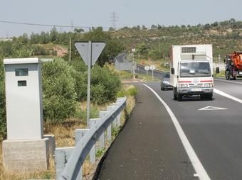 El radar està en un carril d'acceleració de l'N-240, entre l'Espluga i Montblanc.  M. M