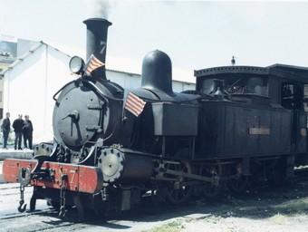 Màquina de vapor, coneguda popularment com la Txitxarra i desapareguda en 1969. / . ARXIU