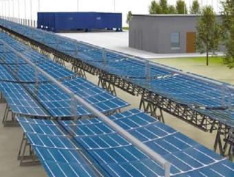 S'instal·laran 26 panells solars, que generaran 35 Mw de potència.  EL PUNT