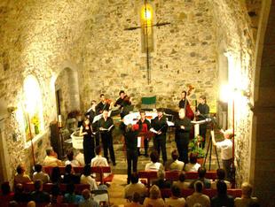Un concert a l'església durant l'edició de l'any passat.  MIQUEL RUIZ