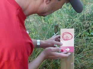 Un moment de la senyalització de «El Camí» del Montseny durant l'any passat.  EL CAMÍ