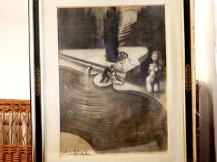 El piano surrealista, presentat ahir a Púbol.  MANEL LLADÓ