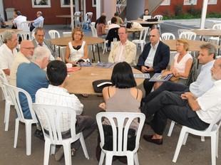 El conseller Huguet es va reunir ahir a Prada amb els rectors de les universitats catalanes. UCE
