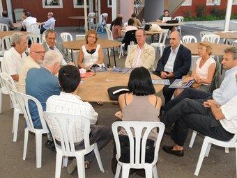 Reunió de rectors catalans a la Universitat Catalana d'Estiu. UCE