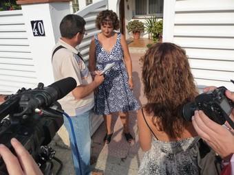 Els informadors van realitzar una visita davant dels mitjans de comunicació, ahir.  M.L