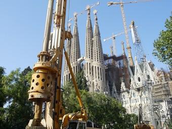 Obres del TAV al costat de la Sagrada Família. A. PUIG
