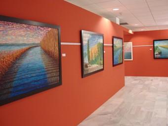 Obra pictòrica de Javier Martínez a la Sala d'exposicions. /  CEDIDA
