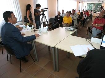 Presentació del Pla Territorial Metropolità amb Josep Maria Carrera.  AJ. LES FRANQUESES