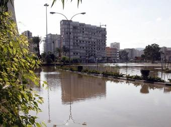 Imatge de les inundacions de febrer de l'any 2007 que ara no s'han repetit. / ARXIU.