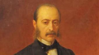 Laureà Figuerola, nascut a Calaf i enterrat a Girona, va implantar la pesseta.  ARXIU