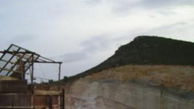 Mina a cel obert de la comarca dels Serrans. ARXIU