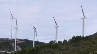 Aerogeneradors instal·lats a un parc eòlic valencià. /  ESCORCOLL