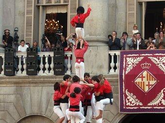Actuació dels Castellers de Barcelona. /  ORIOL DURAN