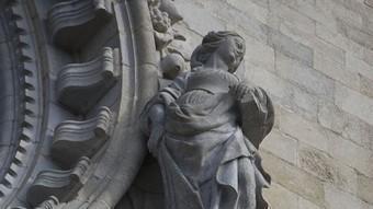 Escultura de la catedral de Girona, obra de Pere Costa.  LLUÍS SERRAT