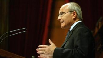 El president de la Generalitat, José Montilla, ahir. /  ANDREU PUIG