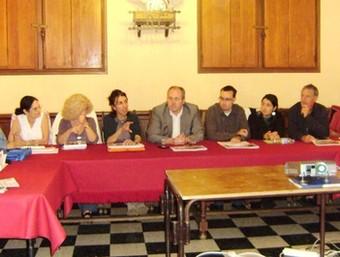 Un moment de l'última reunió de preparació del projecte es va fer el 29 de setembre a Prats de Molló.  EL PUNT