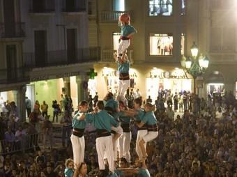 Cinc de vuit amb el pilar de Vilafranca, quatre de nou amb folre de la Vella de Valls, tres de nou amb folre de la Joves de Valls i tres de nou dels Minyons de Terrassa.  T. VAN DER MEULEN