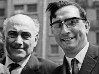 Rafael Dalmau i Pere Català, en una imatge de l'arxiu de la família Dalmau.