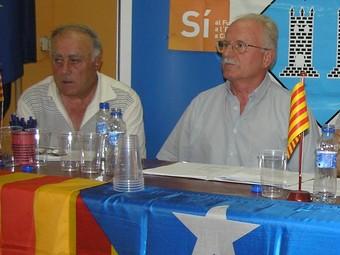 Jaume Brichs, a l'esquerra, al costat de Torrents en una imatge d'arxiu.  A.M