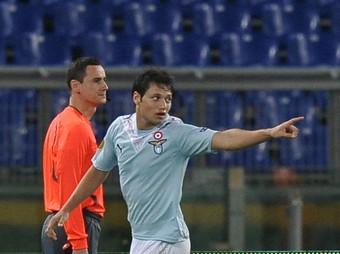 Zarate, autor del primer gol del Lazio. /
