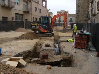 Les obres que s'han fet a la plaça Major de Verges. Ò.P