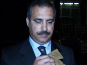 Garcia Sáez , anant al jutjat pel cas Agrotecsa l'any 1999. CATI MORELL