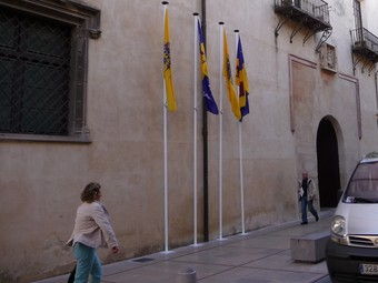 Façana exterior del Palau Ducal de Gandia. /  ESCORCOLL