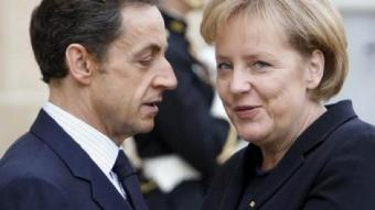 Sarkozy amb la cancellera Merkel, a París. EFE