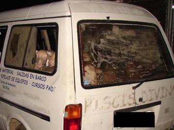 La furgoneta Nissan Vanette carregada amb els xais que havien estat robats a Aiguaviva estava estacionada al carrer Pedret de Girona.
