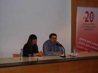 Queti Vinyals (CNL) i Ferran Espada, a Ribes.  L.M