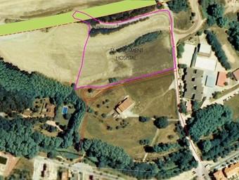 Terrenys on es vol ubicar el nou hospital de Sant Celoni.  AJUNTAMENT DE SANT CELONI