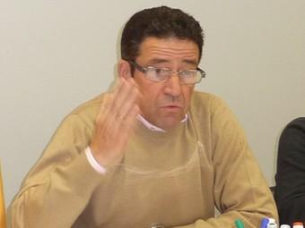 El grup municipal del PSC de Torrelles dimarts al vespre a la seu del partit a Vilafranca.  A.M