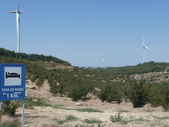 A la Terra Alta pràcticament tots els municipis -tret d'Arnes- tindran aerogeneradors.  R.ROYO