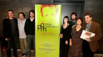 Convocants i guanyadors del tercer premi Quim Masó a la producció de muntatges. /  M. LLADÓ